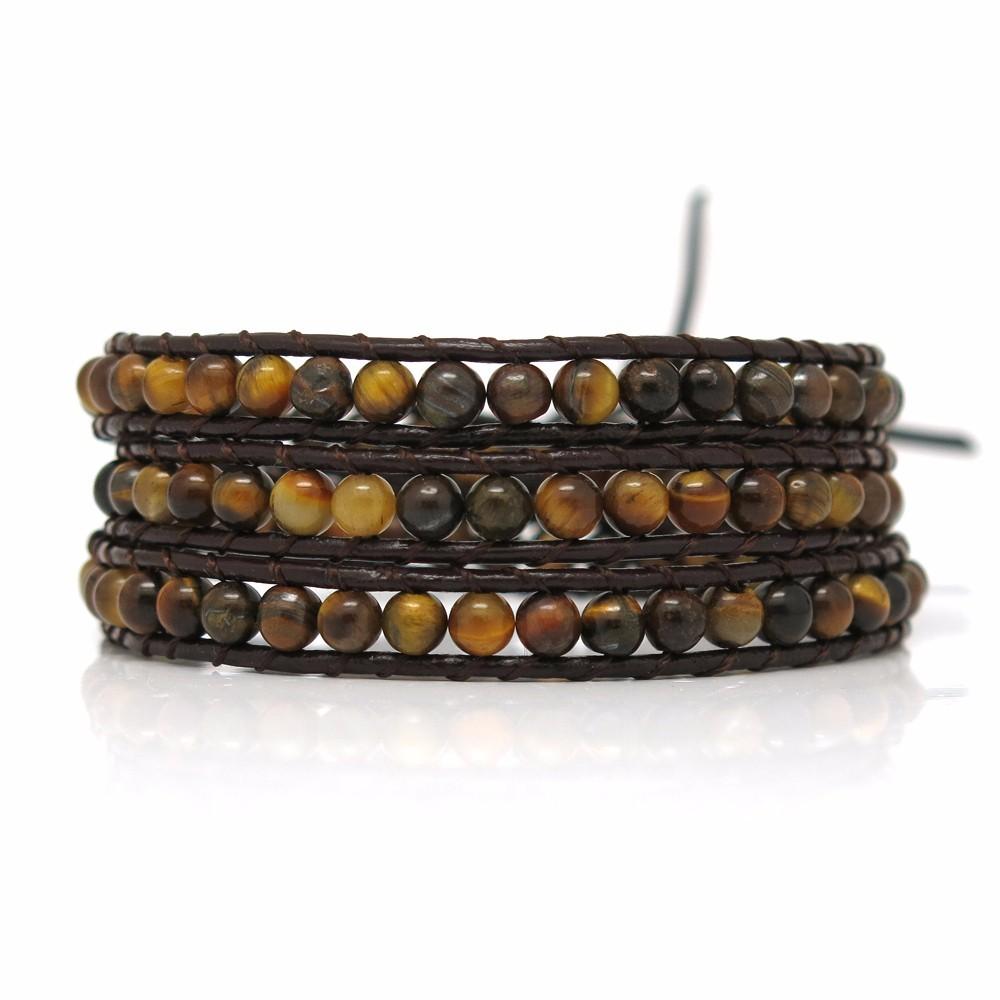 stone handmade adjustable bracelet TTT Jewelry leather beaded bracelets