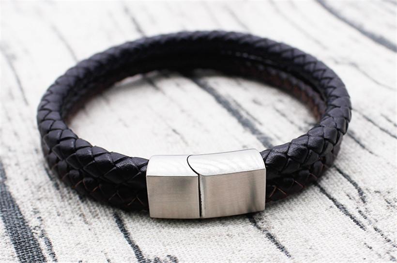 OEM leather bracelets charm stone leather beaded bracelets