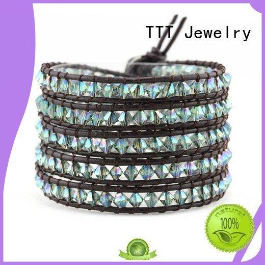 Hot swarovski crystal cuff bracelet beads TTT Jewelry Brand