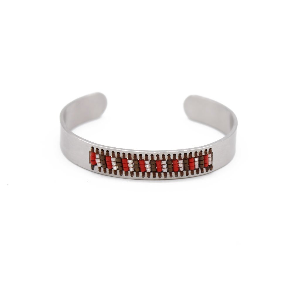 Permanent Stainless Steel Handmade Bracelet  with Japanese Miyuki Seed Beads
