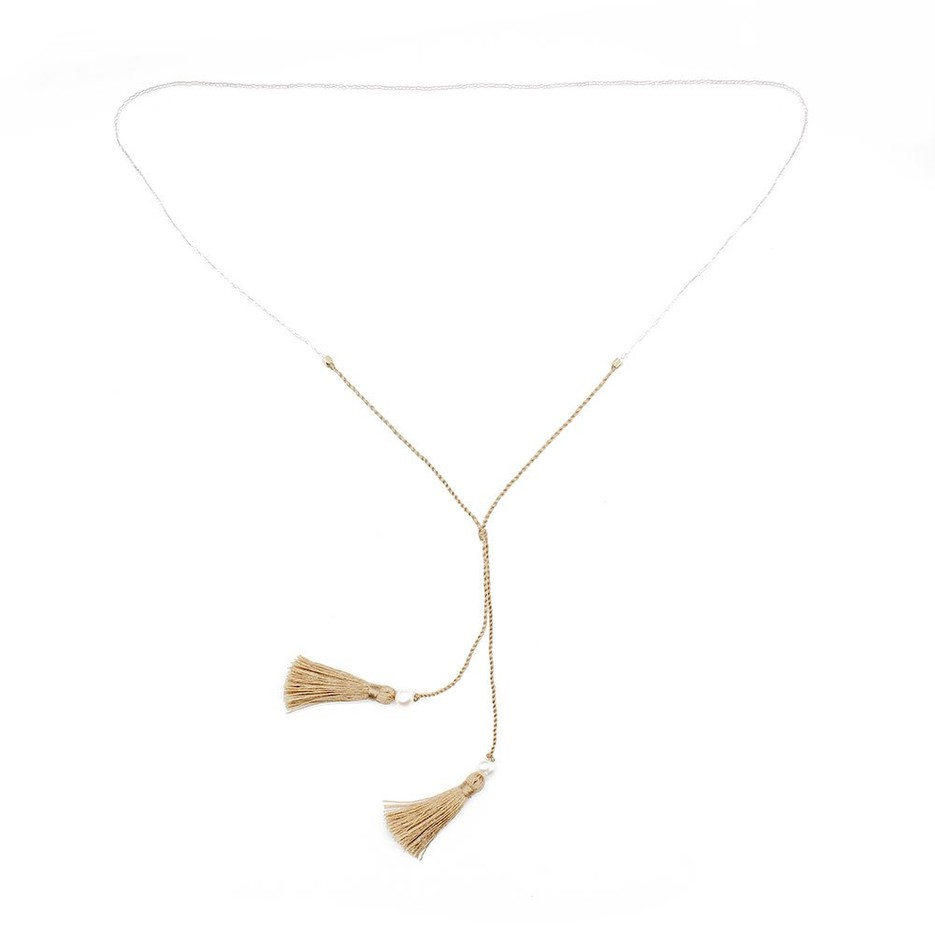 Miyuki Seed Beads Handmade Necklace with Tassel