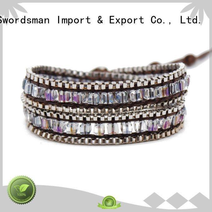 OEM wrap around bracelets bracelet handmade women's leather wrap bracelets