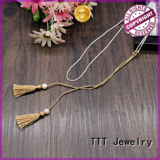 TTT Jewelry Brand multi tassel fashion jewelry necklaces necklace beads