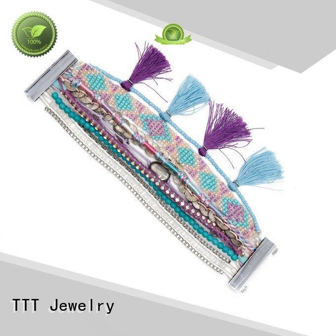 tassel handmade OEM magnetic bracelet