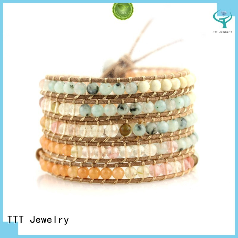 Wholesale light bead boho wrap bracelet TTT Jewelry Brand
