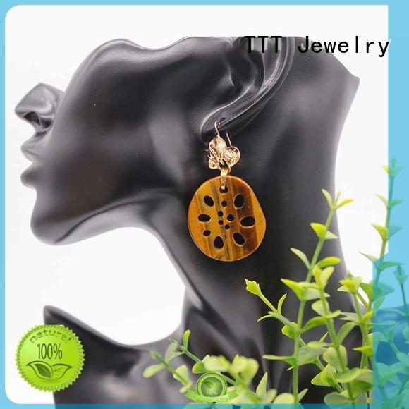 stone gemstone earrings elegant TTT Jewelry company