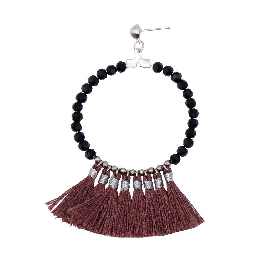 Fantasy Beaded Tassel Handmade Earrings for Women