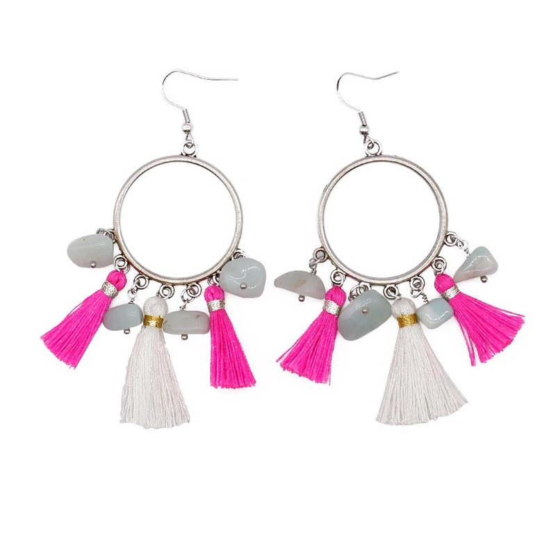 Personalized Handmade Earrings with Natural Stones