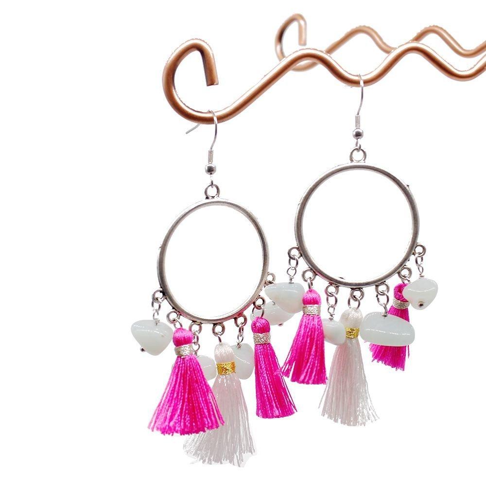 Gorgeous Hoop Earrings Handmade with Accessories