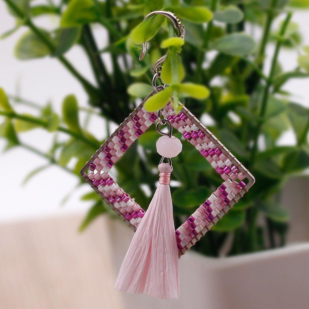Dangle Earrings Pure Handmade Miyuki Seed Beads