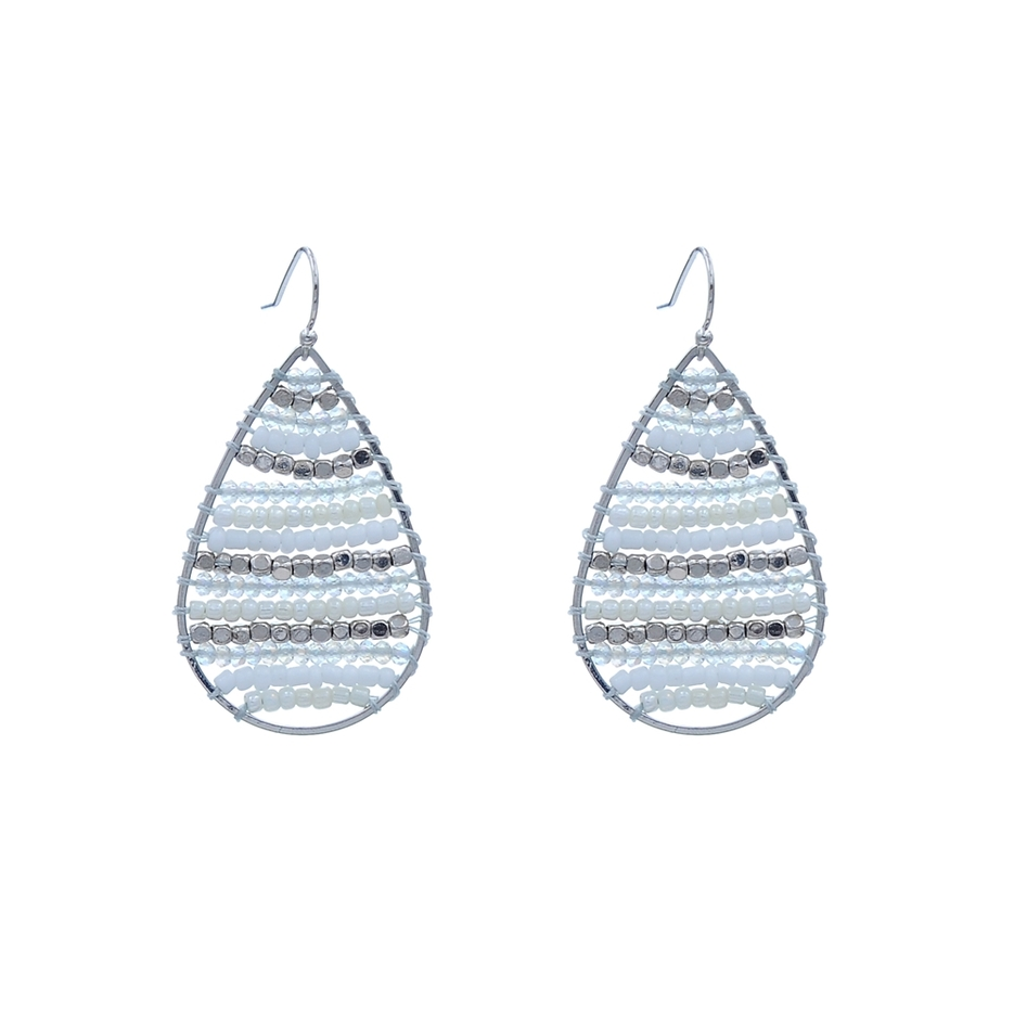 Handmade Miyuki And Crystal Seed Beads Earrings