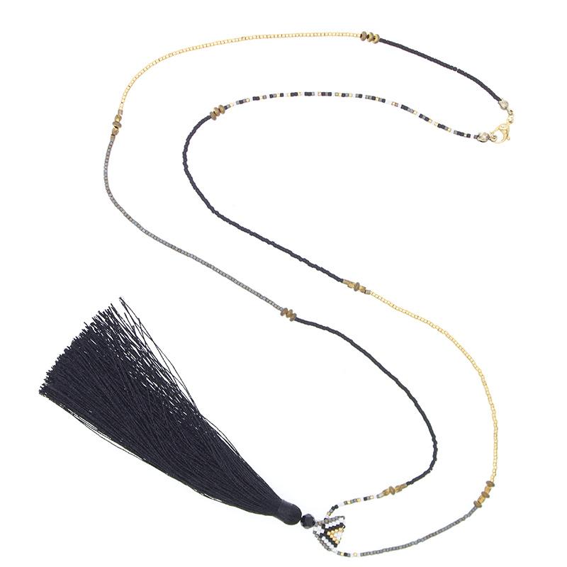 Handmade Miyuki Necklace With Tessal For Women