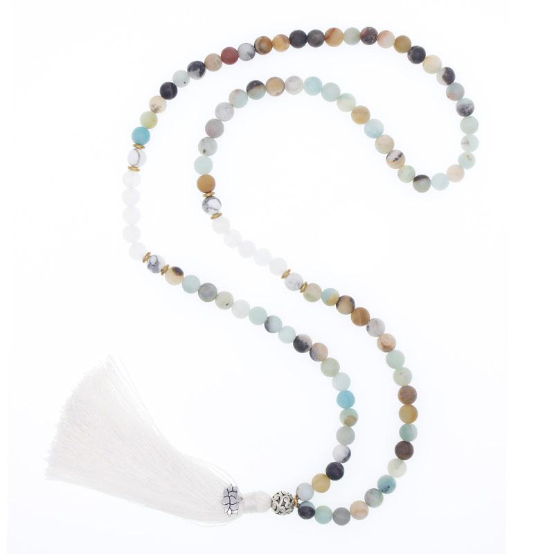 Handmade Muti Natural Stone Beads Necklace