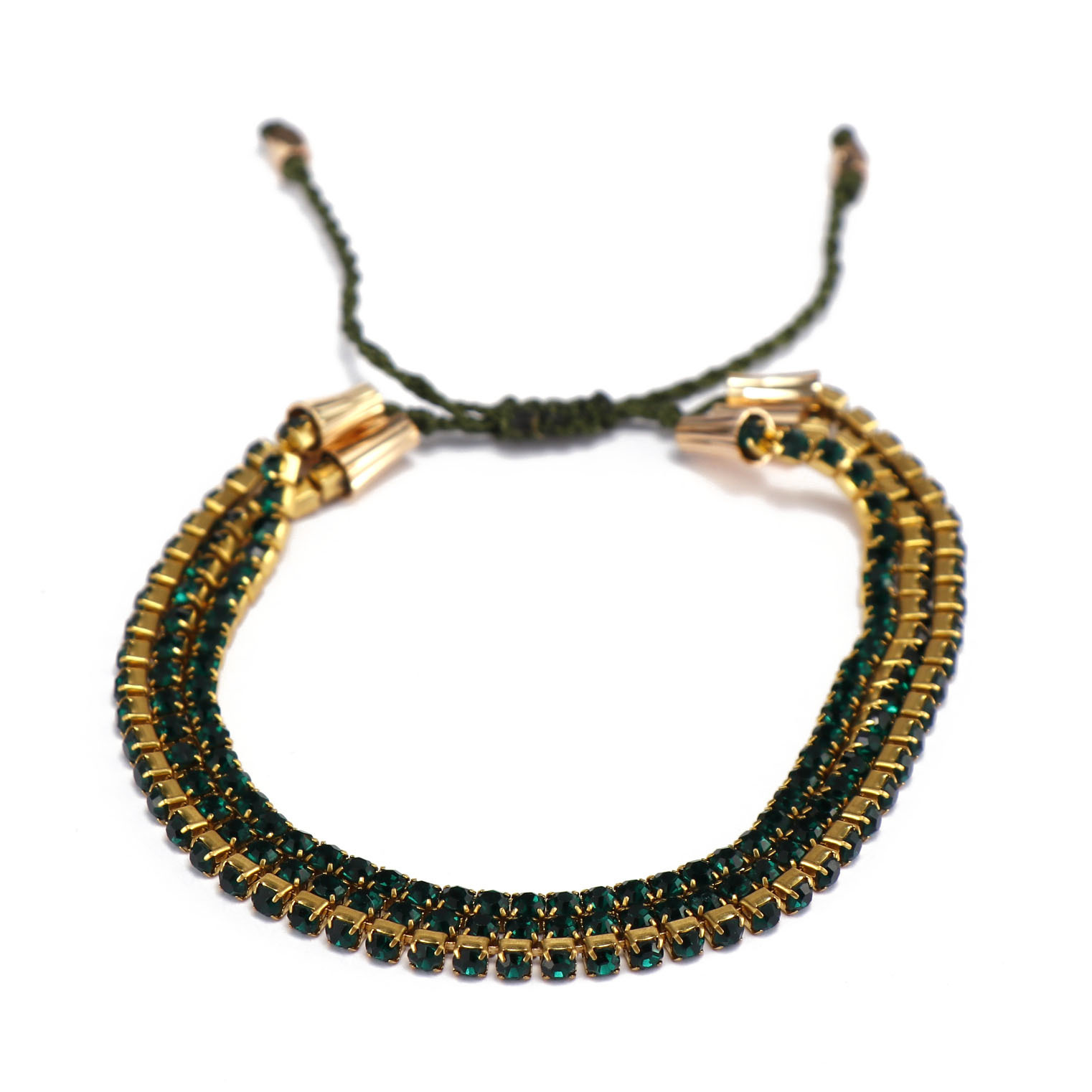 Handmade Mutilayer Rhinestone Circle Bracelet