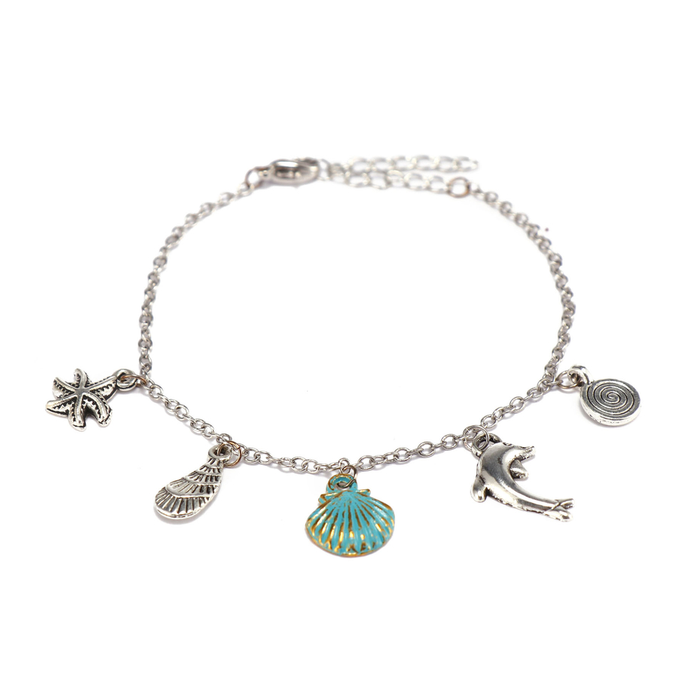 Handmade Copper Chain Bracelet With Alloy Charms