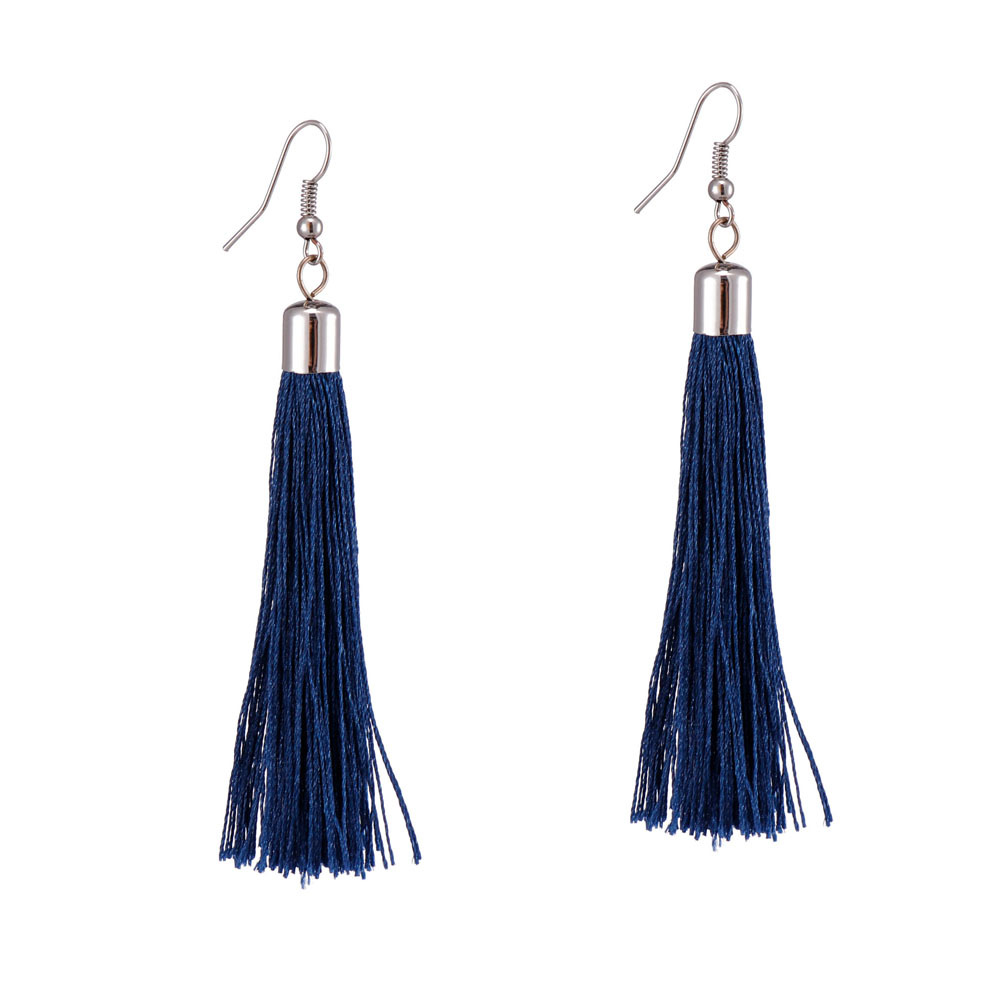 Handmade Long Tassel Earrings