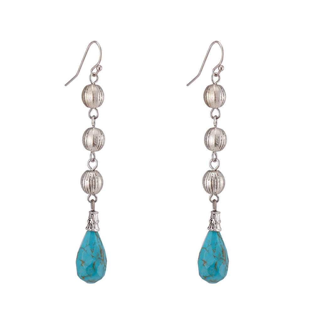 Handmade Turquoise Drop Earrings