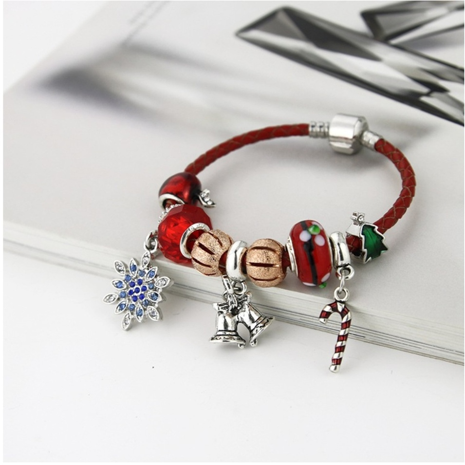 Charms Leather Bracelet Christmas Gift For Kids Or Adults