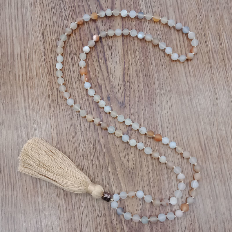 Wholesale Handmade Mala 108 Natural Stone Beads Necklace