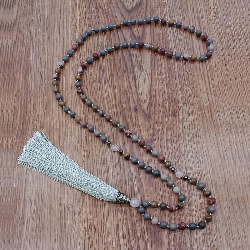 Wholesale Handmade Mala Yoga Stone Beads Necklace