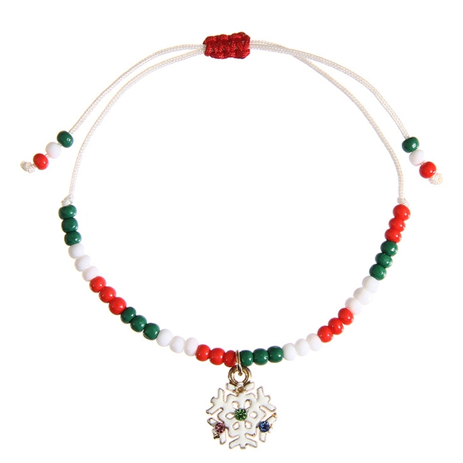 Wholesale Handmade Christmas Gift Charms Bracelet For Kids