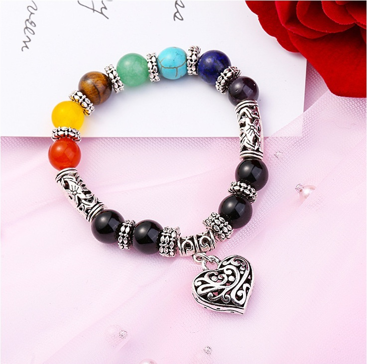 Wholesale Handmade Chakra Bracelet Lava Bracelet For Men