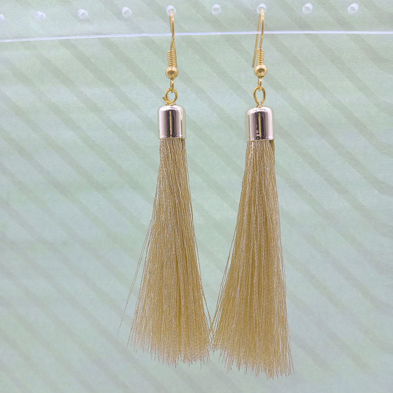 Wholesale Handmade Gold Tassel Earrings