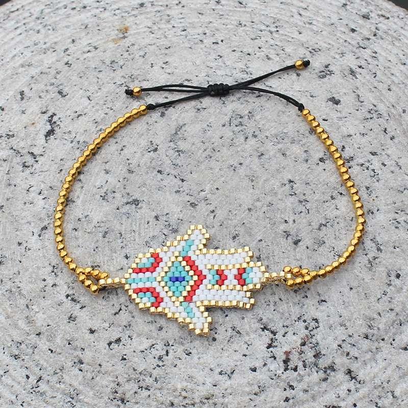 Miyuki Seed Bead Hamsa Hand Bracelet Hand Of Fatima Bracelet