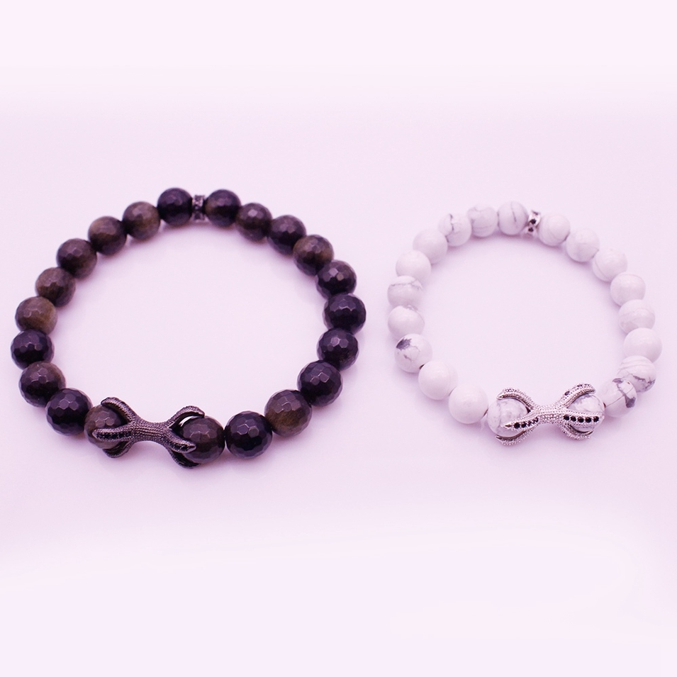 Valentine Jewelry His & Her Couple Charms Bracelet