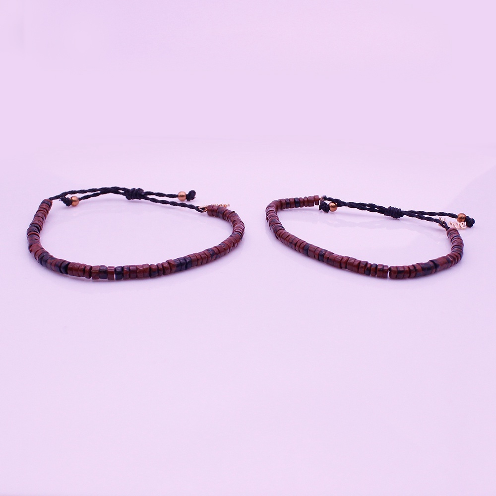 Valentine Agate Chips His&Her Couple Bracelet