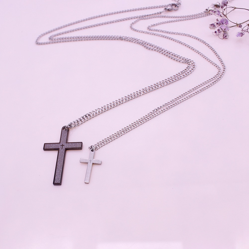 Cross Pendant Valentine His&Her Couple Necklace