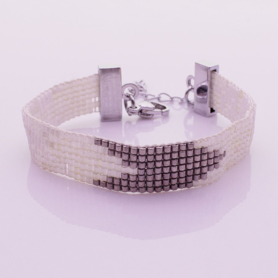 Handmade Miyuki Seed Bead Lobster Clasp Bracelet