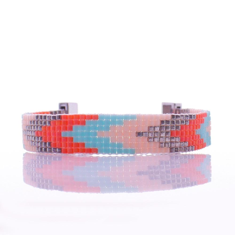 Handmade Miyuki Seed Bead Arrow Beading Lobster Clasp Bracelet