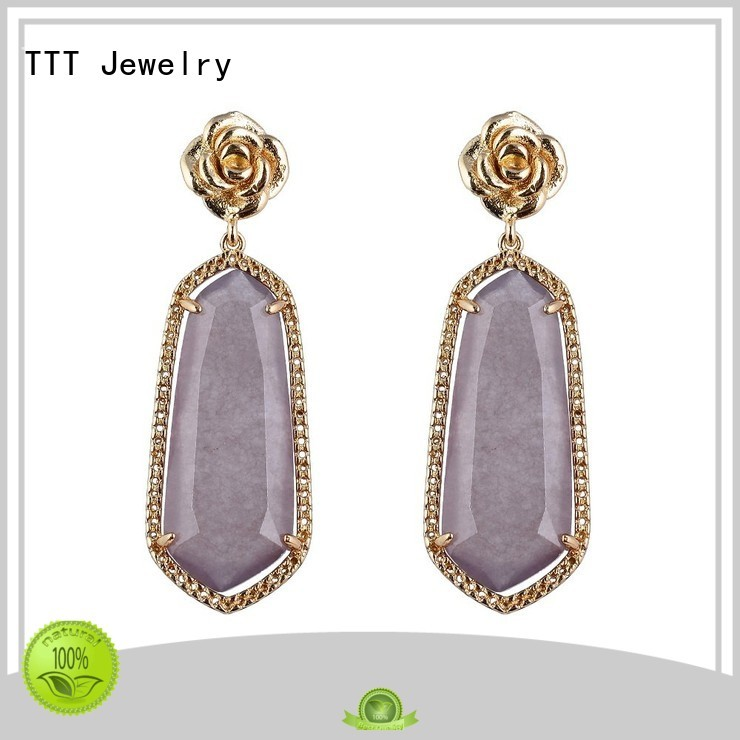 Wholesale earrings stones gemstone earrings TTT Jewelry Brand