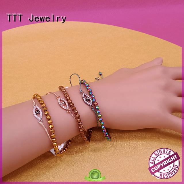 stone bracelet designs brown bracelet TTT Jewelry Brand