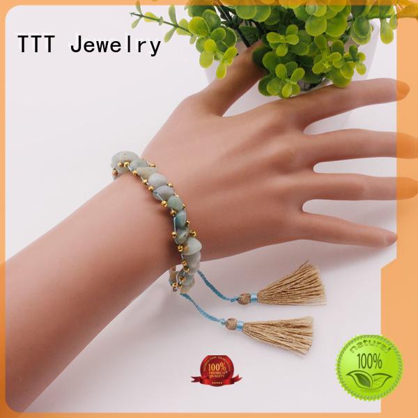 stone handmade eye lava stone bracelet TTT Jewelry Brand