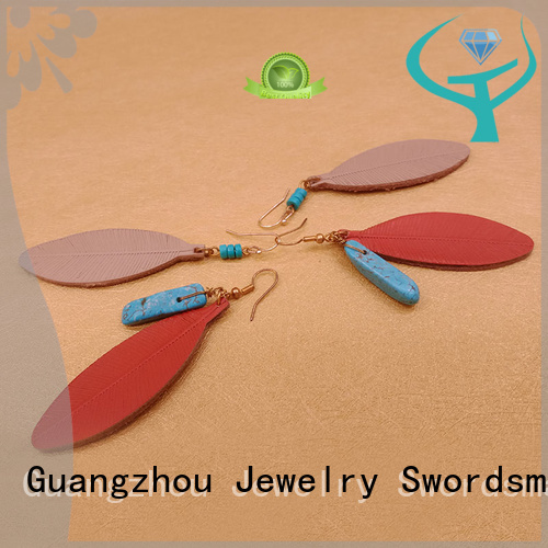 TTT Jewelry Brand natural parts red stone stud earrings stones supplier