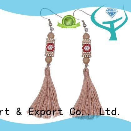 glass miyuki beaded earrings TTT Jewelry murano glass earrings