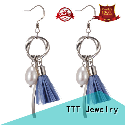 TTT Jewelry Brand bulk raffia earrings raffia factory